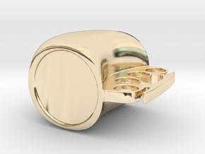 Mug in 14k Gold Plated Brass: Medium