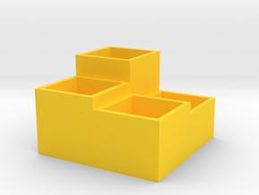 Storage Box in Yellow Processed Versatile Plastic