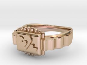LOVE RING in 14k Rose Gold Plated Brass: Medium