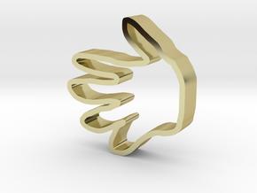 手形狀的曲奇餅乾模型 in 18K Yellow Gold