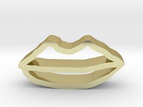 嘴巴形狀的曲奇餅乾模型 in 18K Yellow Gold