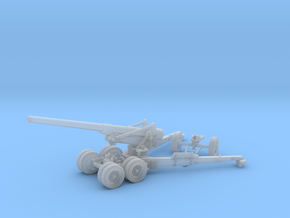 1/48 US 155mm Long Tom Cannon Open Fire Position in Smooth Fine Detail Plastic