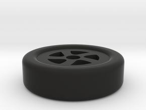 wheel keychain in Black Natural Versatile Plastic