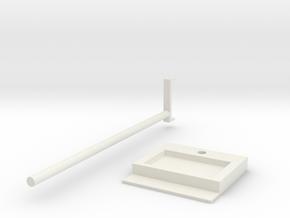 Headphone Hanger in White Natural Versatile Plastic