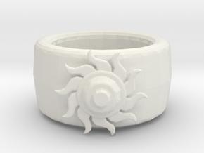 Sun ring in White Natural Versatile Plastic