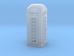 S Scale Telephone Booth in Smooth Fine Detail Plastic