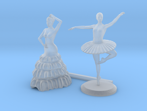 O Scale Dancers in Smooth Fine Detail Plastic