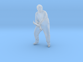 S Scale Guitar Player in Smooth Fine Detail Plastic