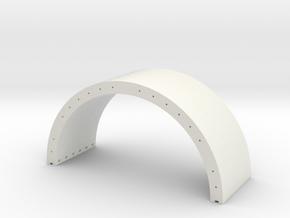 1/87 H0 Spannbeton Halbschale R=10m in White Natural Versatile Plastic