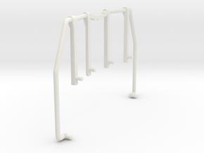 GE U36B walkway Handrail front-rear in White Premium Versatile Plastic