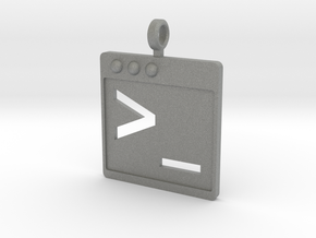 Bash Shell Keychain in Gray PA12