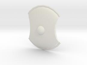 Roman Shield in White Natural Versatile Plastic: Small