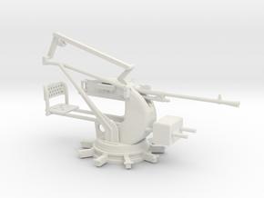 1/24 Breda 20mm 65 caliber Single mount  Navy AA  in White Natural Versatile Plastic