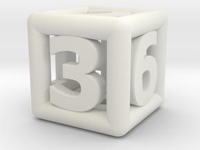 game dice ok in White Natural Versatile Plastic: Medium