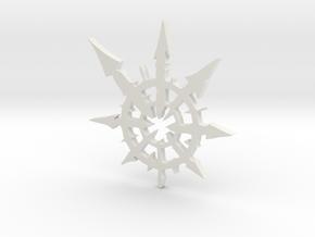Chaos Star Medium in White Natural Versatile Plastic