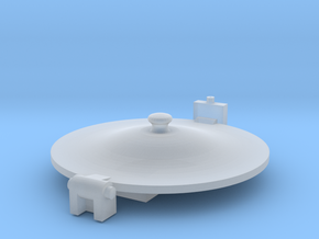 O Scale Austerity Tank Lid [part 8] in Smoothest Fine Detail Plastic