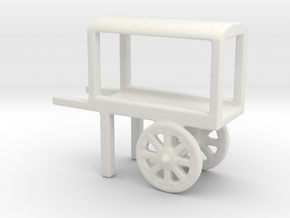 hand cart covered  in White Natural Versatile Plastic
