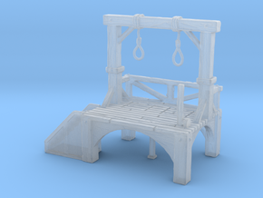 HO Scale Gallows in Smooth Fine Detail Plastic