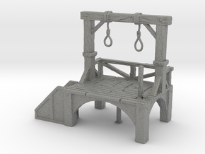 HO Scale Gallows in Gray PA12