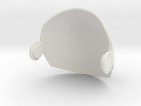 Gemini Visor 1/6 Scale in White Natural Versatile Plastic
