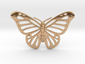 Butterfly Pendant in Polished Bronze