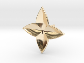 Symetric Clover Earring in 14K Yellow Gold