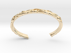 Japanese Pattern Bangle in 14k Gold Plated Brass