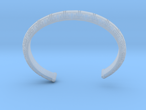 Chinese Pattern Bangle in Smooth Fine Detail Plastic