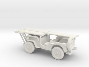 1/87 Scale MB Jeep Ambulance in White Natural Versatile Plastic