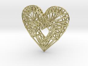 Geometric Heart Pendant in 18K Yellow Gold