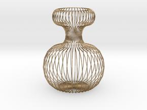 Vase Ornament 120 mm high. in Polished Gold Steel