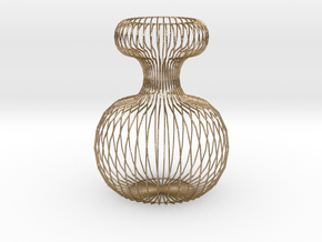 Vase Ornament 120 mm high. in Polished Gold Steel