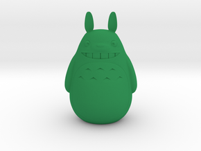 totoro in Green Processed Versatile Plastic: Medium