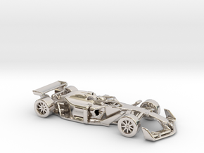 F1 2025 'Simplified' car 1/64 - with driver in Platinum