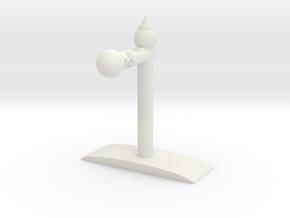 Earmuff earphone holder in White Natural Versatile Plastic: Medium