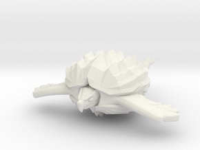 Fleetscale Turtle Space Kaiju Zappo in White Natural Versatile Plastic