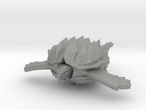 Fleetscale Turtle Space Kaiju Zappo in Gray PA12
