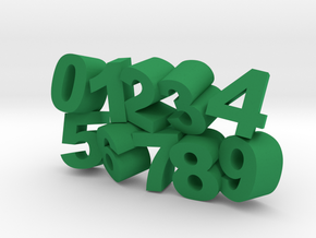 Numbers Game in Green Processed Versatile Plastic