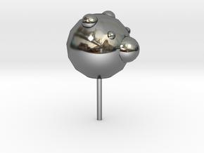 lollipop in Fine Detail Polished Silver