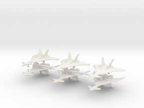 1/350 Mikoyan MiG-31 (Firefox) (x6) in White Natural Versatile Plastic