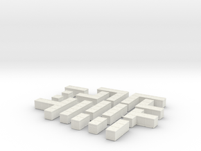 Hesco Barrier Sprue - Single Floor in White Natural Versatile Plastic