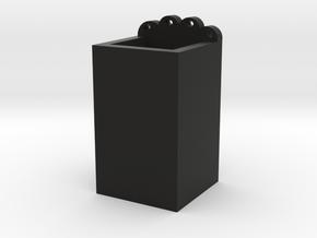 Cat pen holder in Black Natural Versatile Plastic: Medium