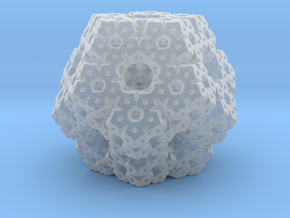 fractal dodecahedron in Smooth Fine Detail Plastic
