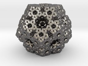 fractal dodecahedron in Polished Nickel Steel