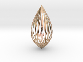 Pendant in 14k Rose Gold Plated Brass: Large