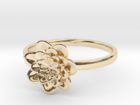 Procedural Flower Ring - 6.5 in 14K Yellow Gold
