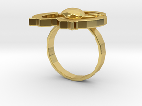 Hilalla ring in Polished Brass: 6 / 51.5