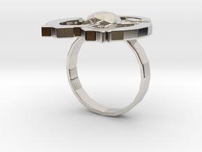 Hilalla ring in Rhodium Plated Brass: 6 / 51.5
