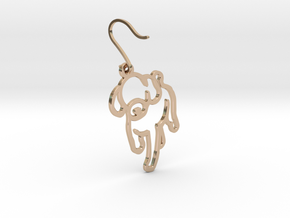 Puppy earrings in 14k Rose Gold Plated Brass