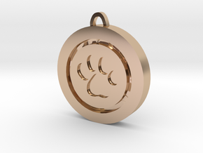 Footprint charm in 14k Rose Gold Plated Brass